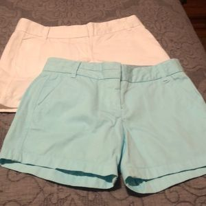 "J. Crew 5"" chino shorts (2 pair)"